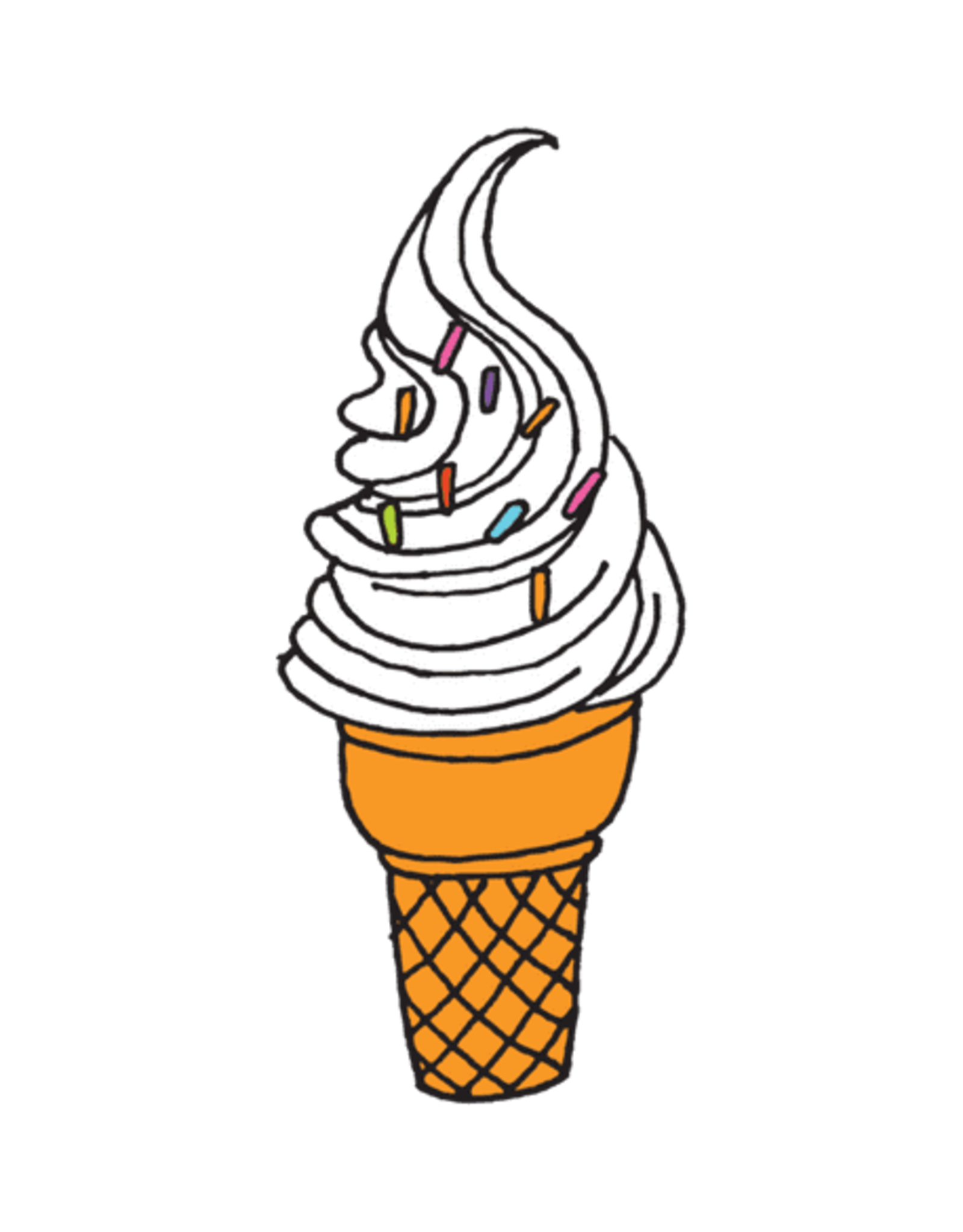"TATOUAGES TEMPORAIRES : SOFT SERVE PAR JULIA ROTHMAN - 1.5"" X 3"""