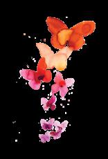 """TATOUAGES TEMPORAIRES : CORAL BUTTERFLIES PAR STINA PERSSO - 3.5"""" X 5.5"""""""