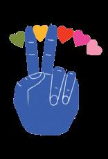 """TATOUAGES TEMPORAIRES : PEACE PAR LISA CONGDON - 2.5"""" X 2.5"""""""