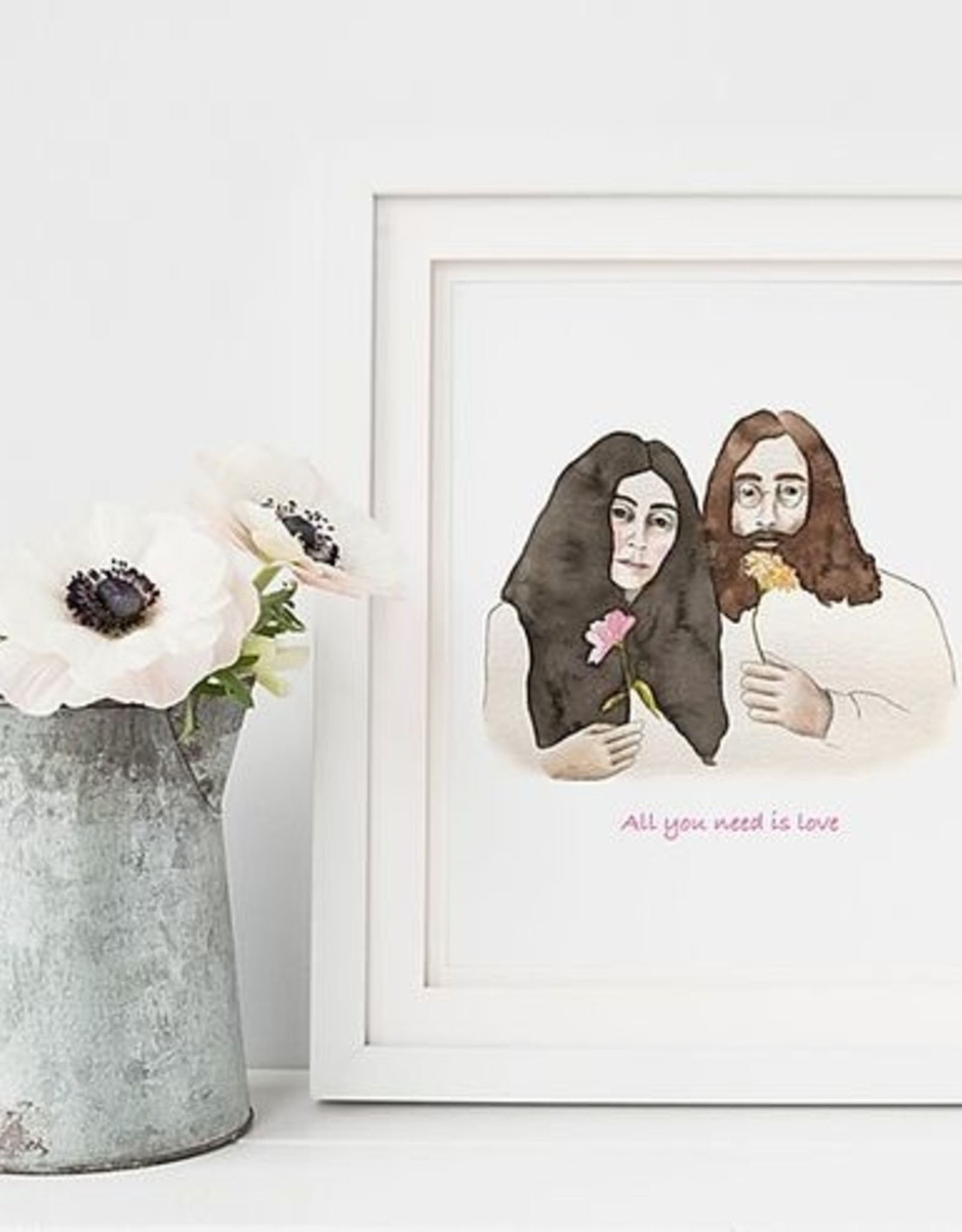 AFFICHE JOHN & YOKO : 8 X 10