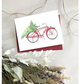 CARTE DE SOUHAITS : BICYCLETTE DE NOEL