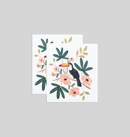 Tatouages temporaires par Tattly - Ensemble de 2 tatouages: Abstract Toucan par Rifle Paper Co.
