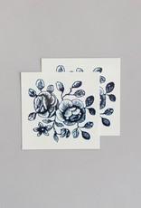 Tatouages temporaires par Tattly - Ensemble de 2 tatouages: Cartolina Blooms par Fiona Richards