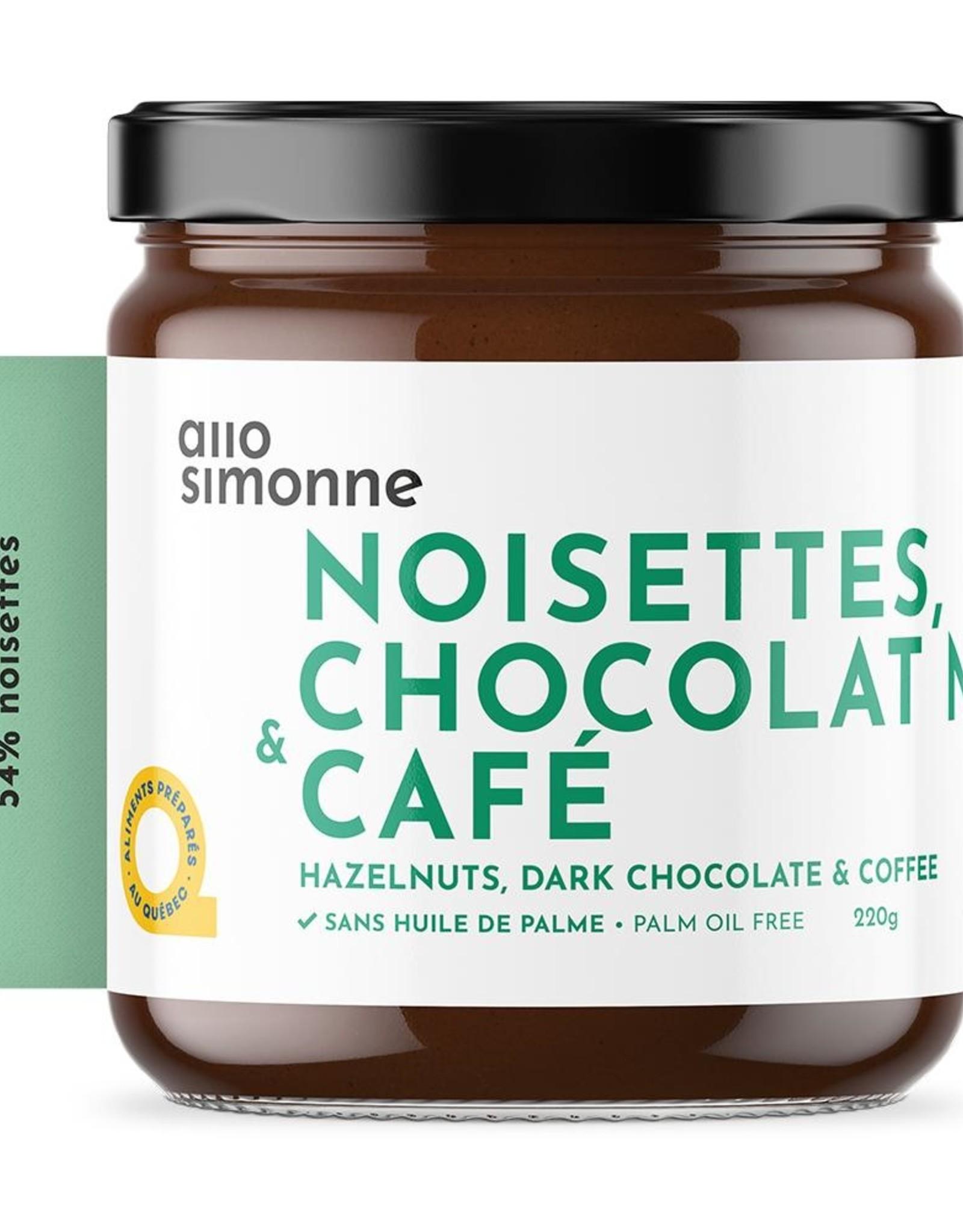 Tartinade chocolat noir & café par Allo Simonne