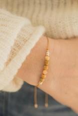Bracelet Selena par Si Simple Moutarde