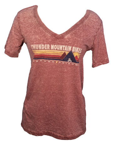Thunder Mtn Women's Triple Peaks V-Neck T-Shirt