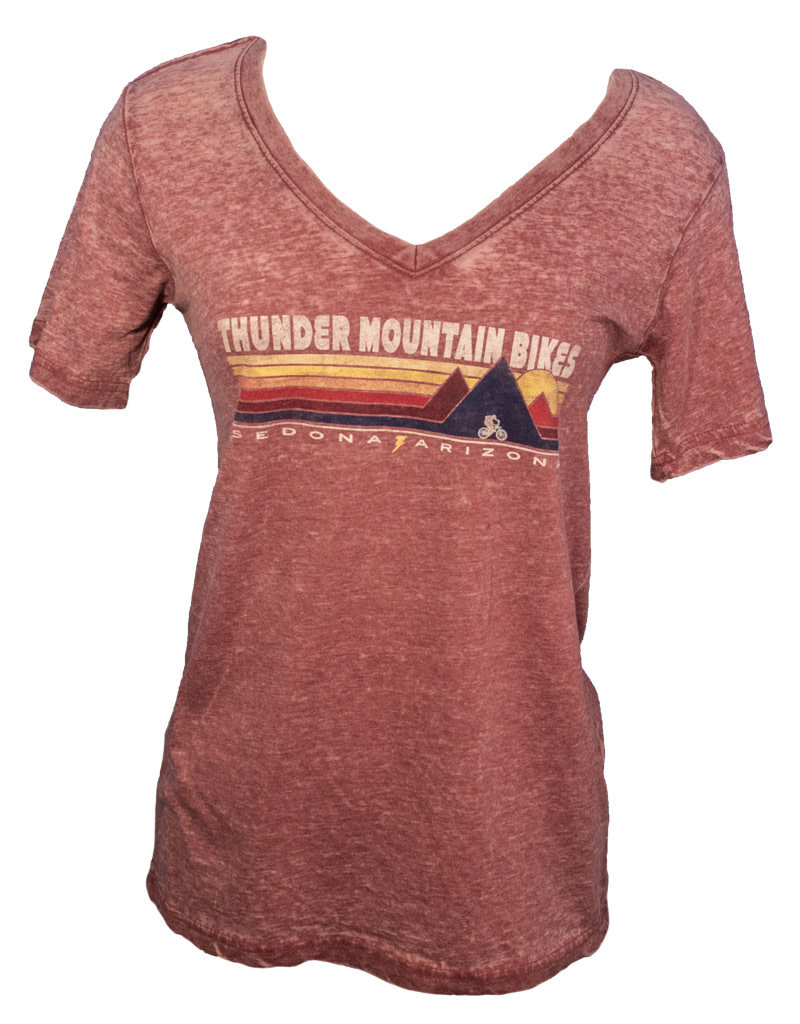 Thunder Mtn Women's Triple Peaks V-Neck T-Shirt