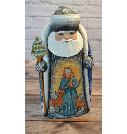 Carved Santa with Snow Maiden