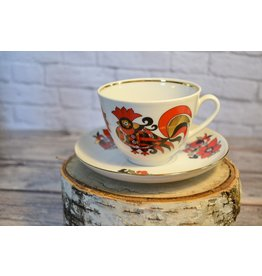 Red Rooster Tea Cup & Saucer