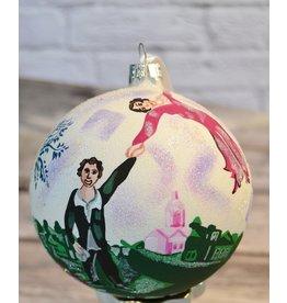 Chagall Glass Ball Ornament