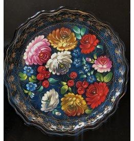 Zhostovo Tray Blue Floral