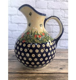 Kalich Pottery Kalich Polish Pottery Pitcher with Strawberries
