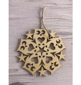 Birch Owl Snowflake Ornament