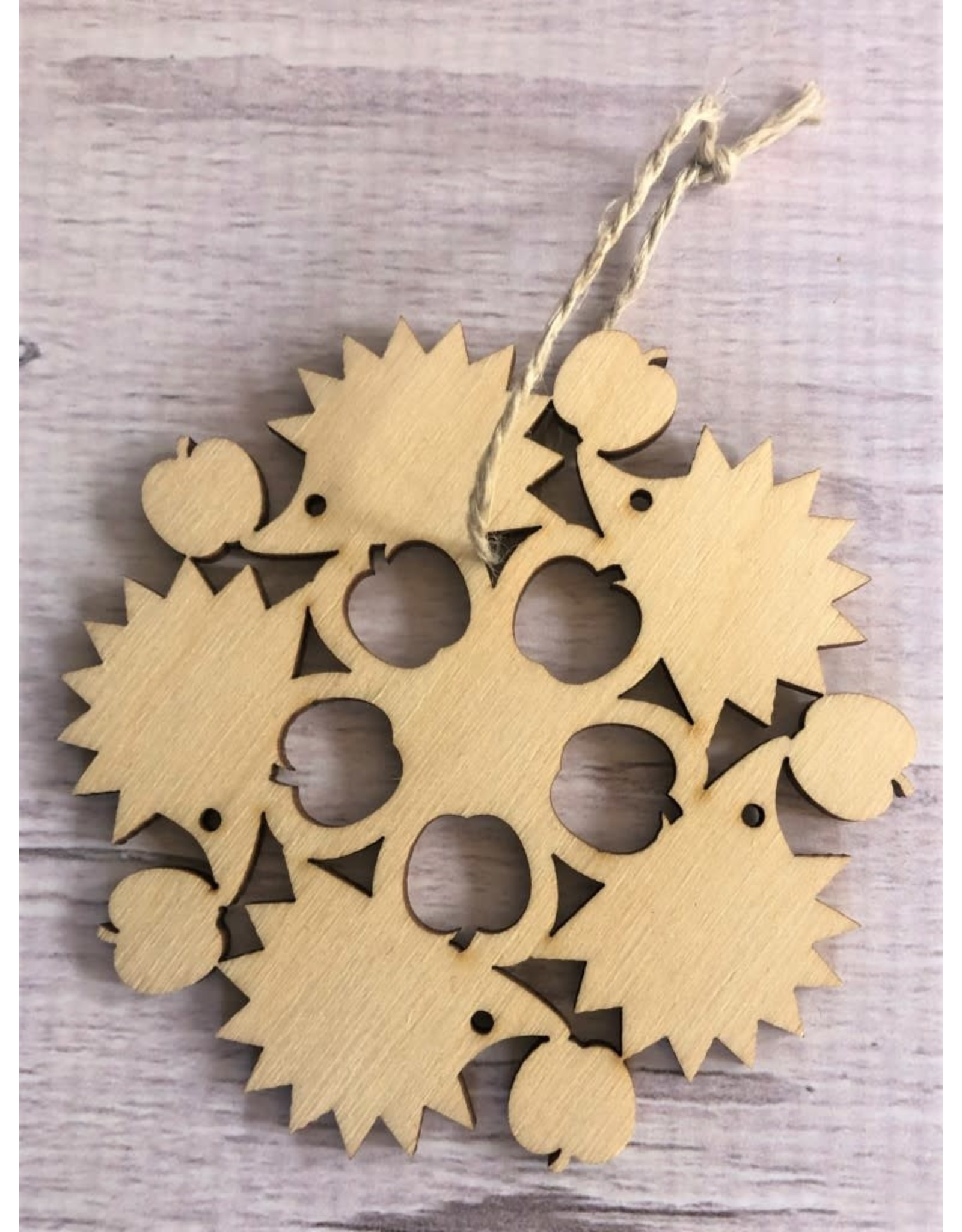 Birch Hedgehog Snowflake Ornament