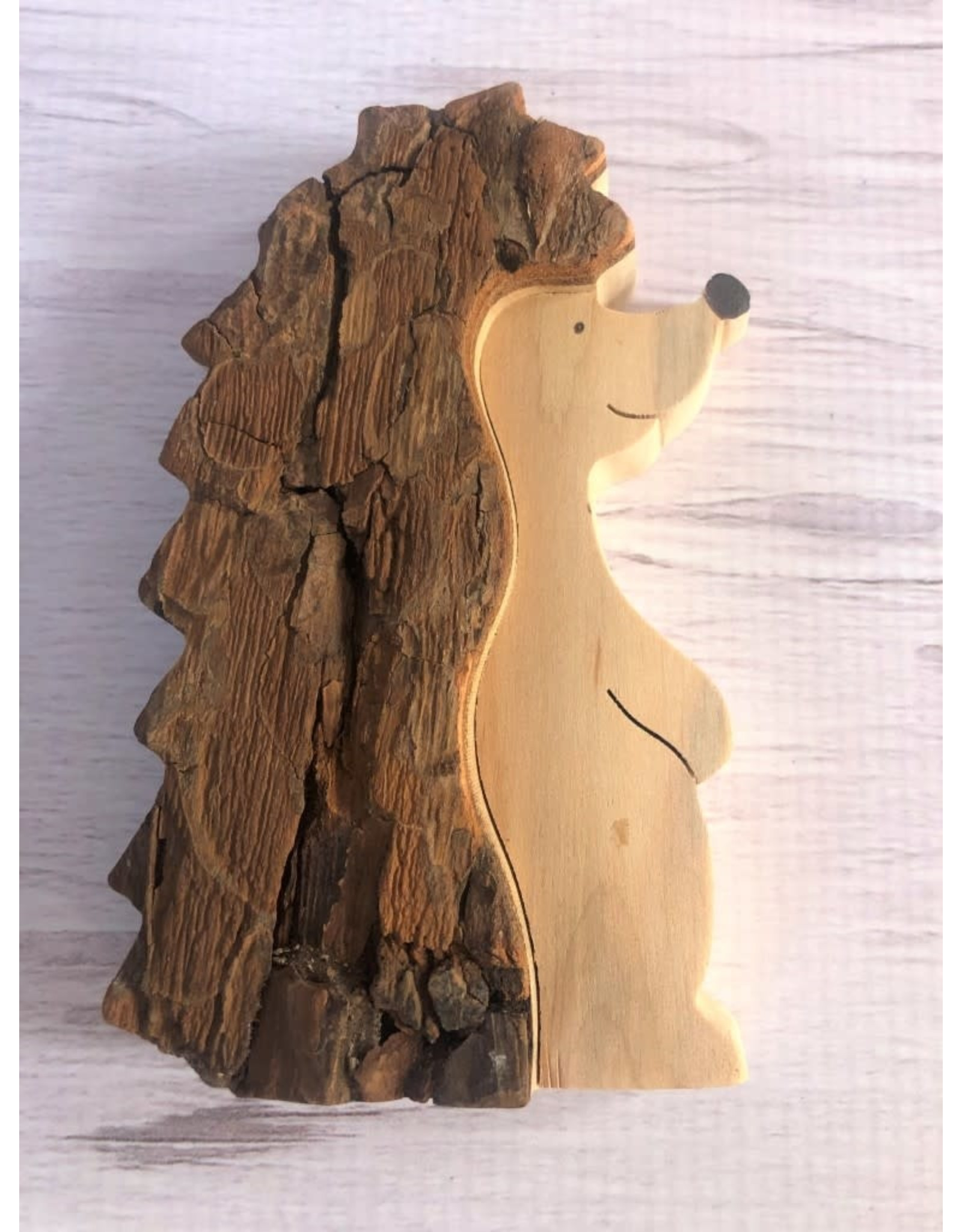 Bark Wood Hedgehog Large