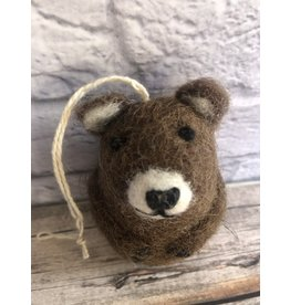 Felt Brown Bear Ornament