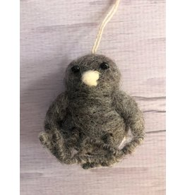 Felt Owlet Ornament Grey