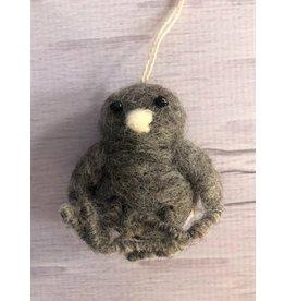 Felt Owlet Ornament Grey