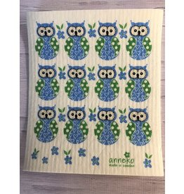Owls Swedish Dishcloth