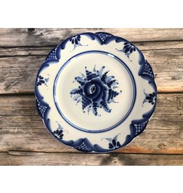 Gzhel Floral Plate (Medium)