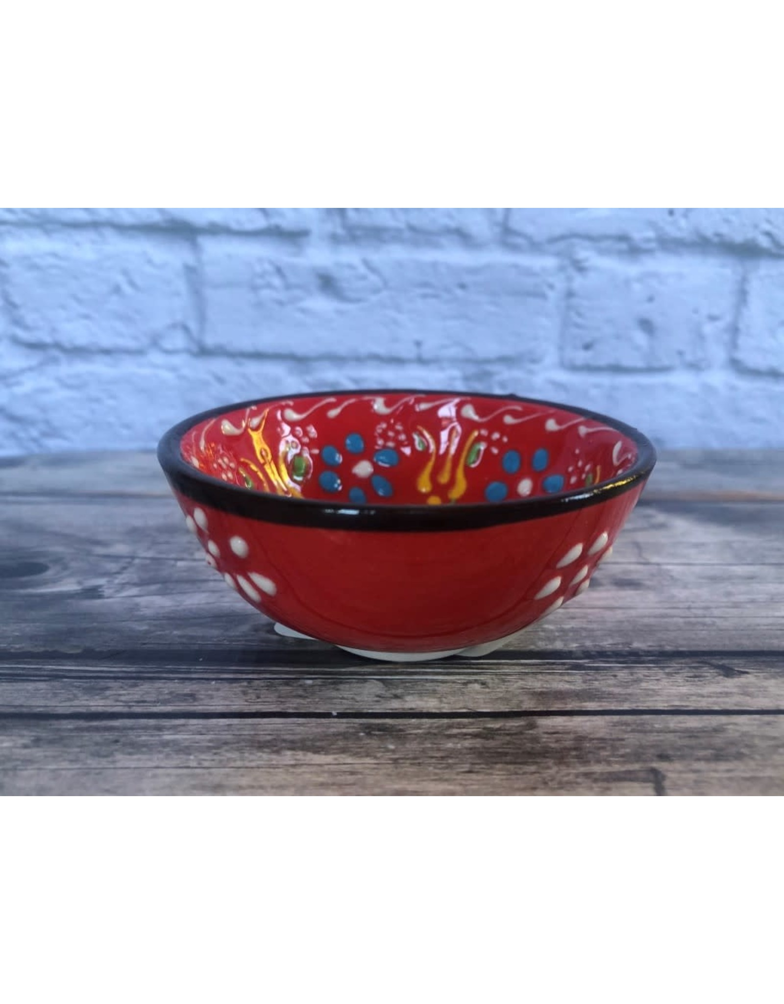 Black Sea Pottery Small Bowl in Red