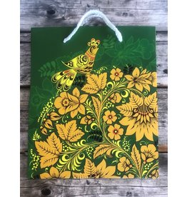 Hand Made Khokhloma Green Gift Bag