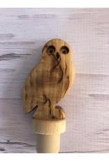 Birch Burlwood Owl Bottle Top