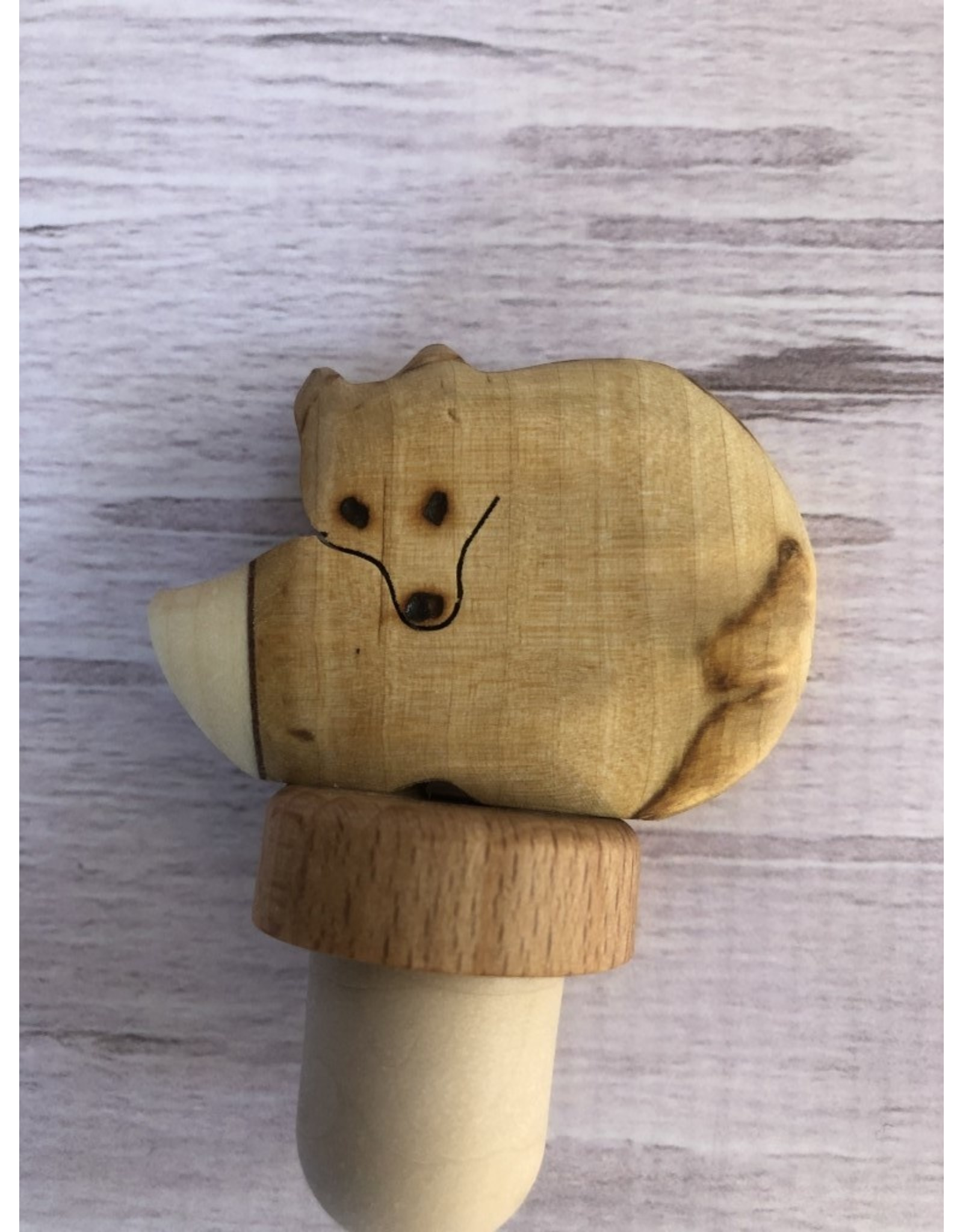 Birch Burlwood Fox Bottle Top