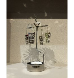 Carousel Candle Holder Owls