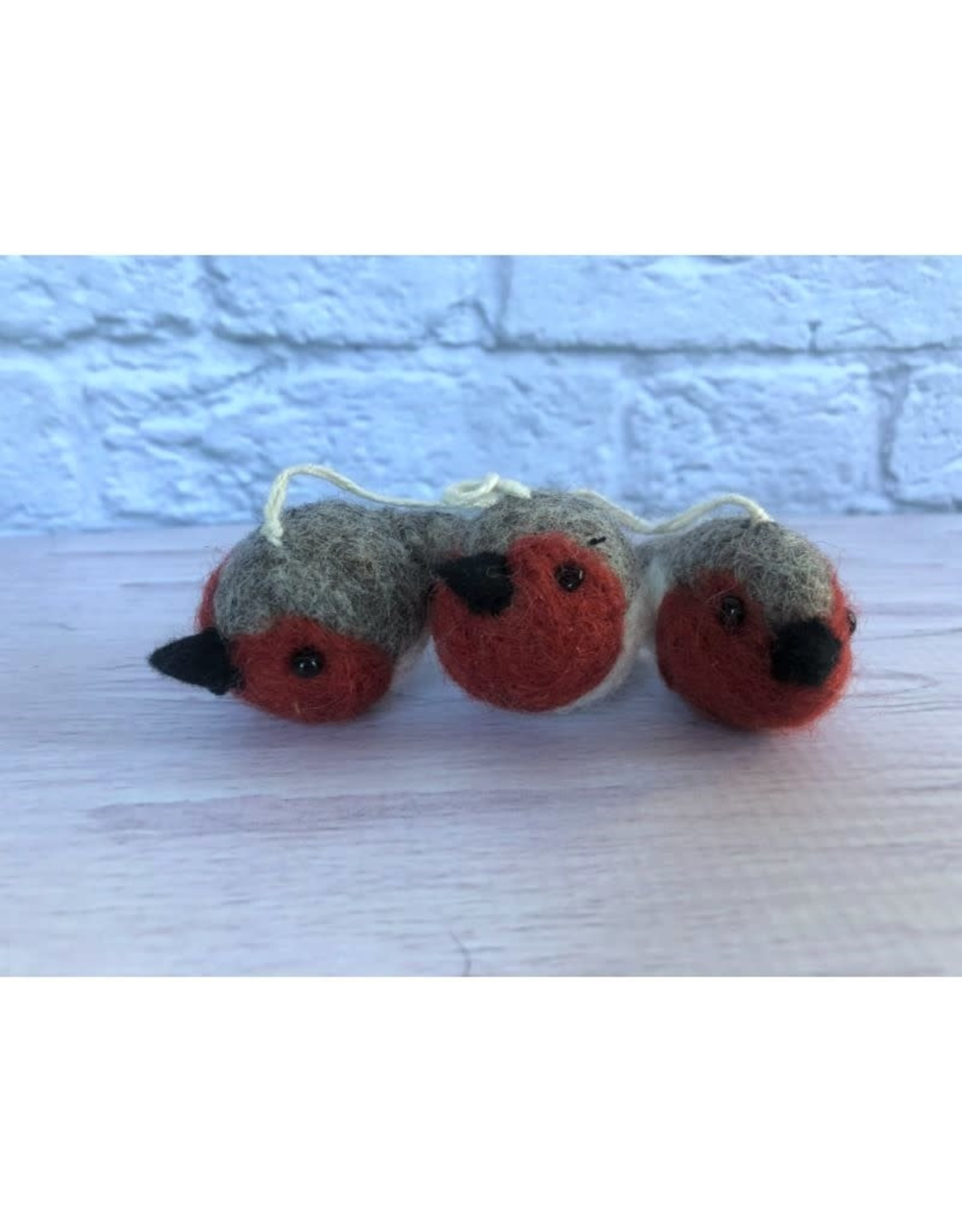 Felt Mini Bird Ornaments Set of 3