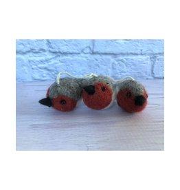Felt Mini Bird Ornaments Set of 3