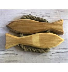 Hand Made Wooden Fish Trivet