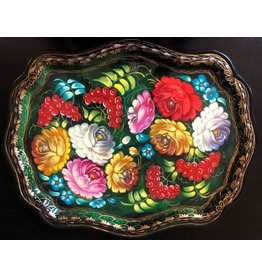 Zhostovo Floral Tray (Large)