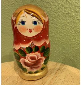 Matryoshka with Rose (Three-Piece)