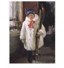 """""""The Young Skier"""" Notecard"""