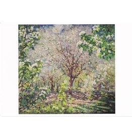 """Gerasimov """"Trees in Bloom"""" Blank Notecard"""
