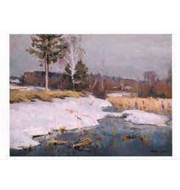 """Late Snow"" Notecard"