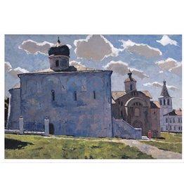 """Stozharov """"Novgorod Yaroslav Monastery"""" Notecard"""