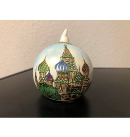 Painted St. Basil's Ornament (White)