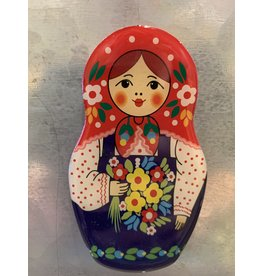 Matryoshka Magnet with Violet Apron