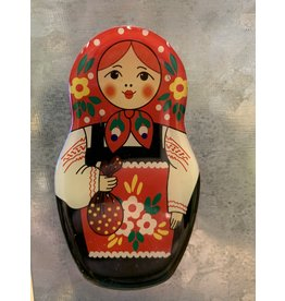 Matryoshka Magnet with Red Scarf