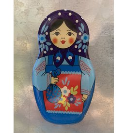 Matryoshka Magnet with Blue Dress