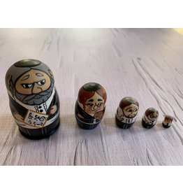 Mini Jewish Matryoshka with Sheet Music