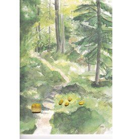"""Mushroom Forest"" Watercolor Notecard"