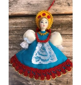 Folk Costume Ornament with Red Sequin
