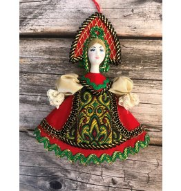 Folk Costume Ornament with Filigree Apron