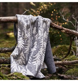 House in the Forest Woven Wool Blanket