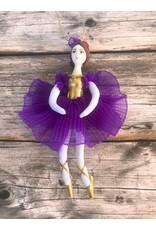 Ballerina Ornament in Purple