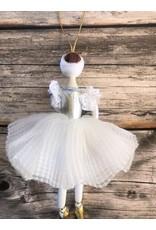 Ballerina Ornament in White