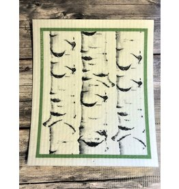 Birch Trees Swedish Dishcloth